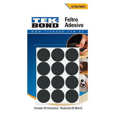FELTRO-REDONDO-TEK-BOND-PRETO-20MM-CARTELA-COM-24